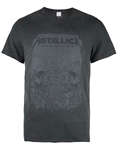 Amplified Metallica-The Black Album Camiseta, Gris (Charcoal CC),...