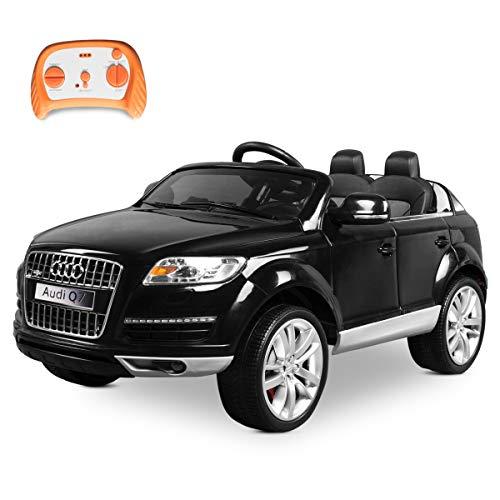 Playkin- Coche Infantil de batería, Color Negro (Audi Q7)