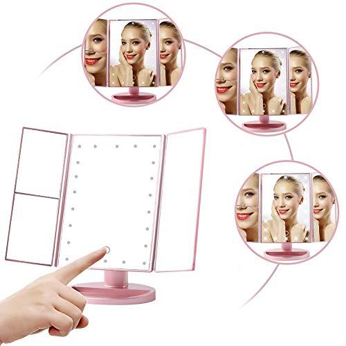 Schminkspiegel Haut Pflege Werkzeuge Doppelseitige Erhellen Einstellbare Usb Led Beleuchtete Make-up Spiegel Tragbare Eitelkeit Tabletop Lampe Kosmetik Spiegel Make Up Tool GroßE Auswahl;