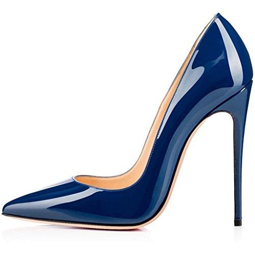 Kolnoo Damen Pumps mit Stiletto Heels Größe Blau