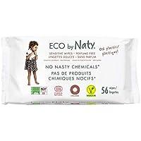 Eco by Naty, Parfümfrei, 672 Stück (12x56 Tücher), pflanzliche kompostierbare Baby-Feuchttücher, 0% Plastik auf der Haut. Frei von gefährlichen Chemikalien