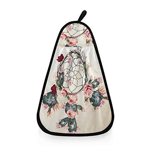 ALARGE - Toalla de Mano con diseño de Flores, Cactus, atrapasueños Tribal, Secado rápido, Toalla para la Cara, paño de Limpieza para el hogar, Cocina, baño