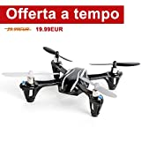 Mini Drone, FPVRC Hubsan X4 H107L V2 RC Quadricottero 2.4GHz 4CH 6 Axis Gyro Luci a LED/360 Acrobazia/Indoor/Outdoor - RTF