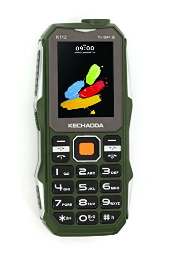 Kechaoda K112 Triple Sim Keypad Mobile With 5000 mAh Battery 2.4 inch Screen Front & Rear Dual Camera MP3 Player, Music Player , 3.5 mm Audio Jack Big Range Bright Torch Class K Power Amplifier Also E