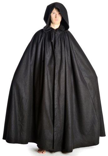 HEMAD Manteau Médiéval avec Capuche - Spacieux - Feutrine de laine – (Costume Moyen Age Homme)