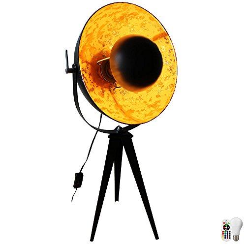 Steh Lampe Schlaf Zimmer Scheinwerfer Stativ Dimmer Fernbedienung im Set inkl. LED RGB Leuchtmittel