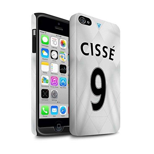 Offiziell Newcastle United FC Hülle / Matte Harten Stoßfest Case für Apple iPhone 4/4S / Pack 29pcs Muster / NUFC Trikot Away 15/16 Kollektion Cissé