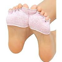 OverDose Damen Unsichtbare Yoga Gymnastik nicht Beleg-Socken Fünf-Finger-Socken