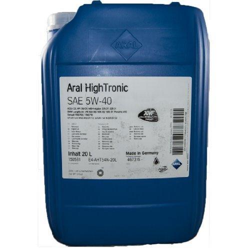 ARAL HighTronics 5W  40 Motorenöl , 20 Liter