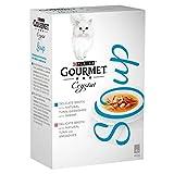 Gourmet 6X Suppe Katzenfutter Thunfisch & Garnelen 4 X 40G