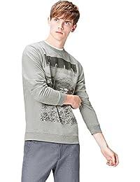 Amazon-Marke: find. Sweatshirt Herren aus Baumwoll-Jersey mit großem Print