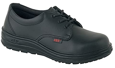 ABS 121P ladies slip resistant shoe with steel toe cap, black, size 4, PAIR