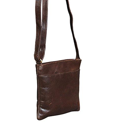STILORD Lana Borsa elegante piccolo bufalo / a tracolla / Vintage Retro / pelle , Colore:cognac-marrone marrone - cioccolata
