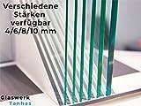 ESG Sicherheitsglas (Einscheibensicherheitsglas) - Glasplatte/Glastisch Transparent - Alle Maße Lieferbar - 8mm Stärke - Made in Germany (Breite 160 cm x Höhe 70 cm)