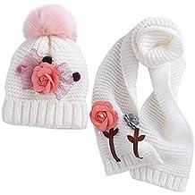 ACMEDE Cappello e Sciarpa Lavorati a Maglia per Bambini Invernali 56aead701d1f