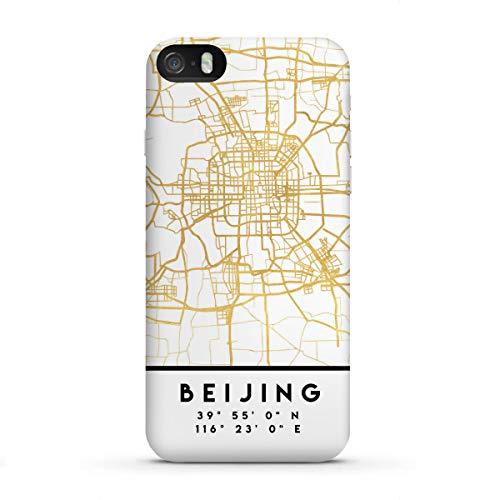 artboxONE Premium-Case Handyhülle für Apple iPhone SE Beijing China Street MAP Art von Emiliano Deificus