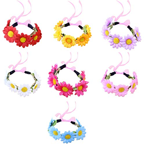 VIccoo Handgelenk Corsage, Frauen Realistische Daisy Blume Handgelenk Corsage Kleine Sonnenblume Candy Farbe Brautjungfer Armband Faux Rattan Hochzeit Armband -