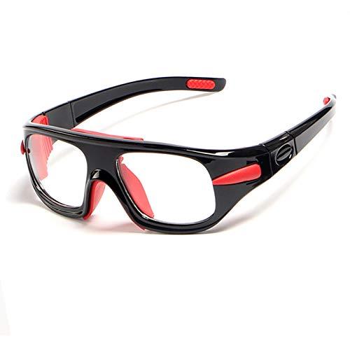 Gnzoe TPU+PC Basketball-Brille Fußball Schutzbrillen Sonnenbrille Abnehmbar Sportbrille Schwarz