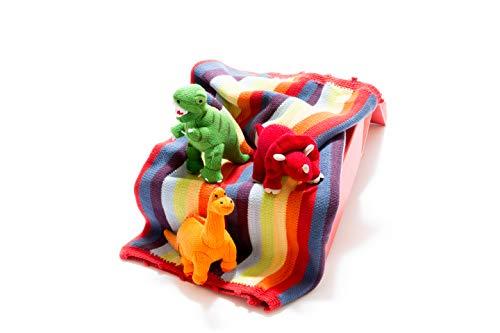 Coffret cadeau pour bébé dinosaure comprenant une couverture et trois hochets de dinosaure