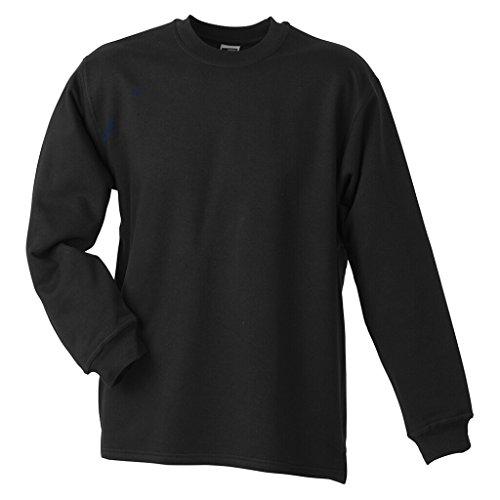 JAMES & NICHOLSON Sweatshirt mit Rundhalsausschnitt Black