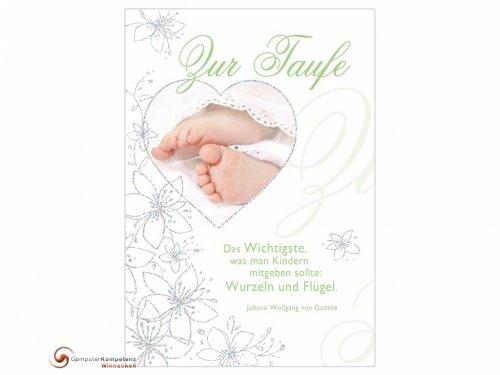 Perleberg Taufkarte Glückwunschkarte zur Taufe Spruch von Goethe