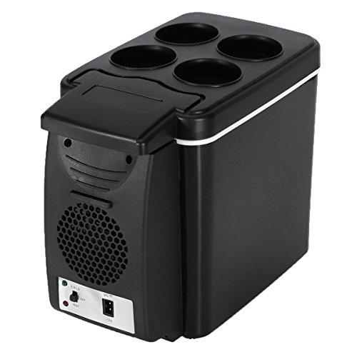AUTOINBOX - Nevera portátil para coche, para frío y calor, eléctrica, 12V, 6L, color negro