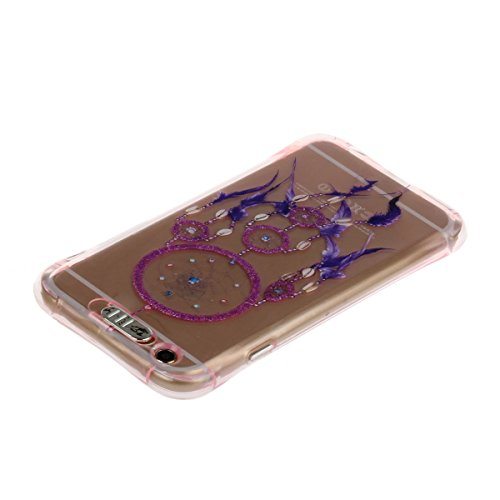 iPhone 6 Plus Hülle,iPhone 6S Plus Schutz Case,iPhone 6 Plus Cover - Felfy Utral Dünn Soft Überzug Bling Stern Glitzer Shiny Überzug Gel TPU Silikon & Plastic Rahmen & Blu-ray-Spiegel Hybrid Handy Hül Rosa Traumfänger