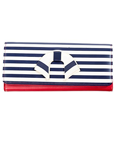 Dancing Days by Banned Clutch VINTAGE NAUTICAL WALLET 1489 Red-Stripes