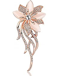 Broche de ojo de gato creado por Merdia para mujer, diseño de ramo de novia, 12 g