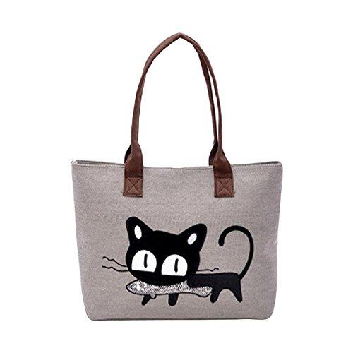sac-a-main-feitong-mode-feminine-bandouliere-sac-de-toile-chat-mignon-sac-lunch-bag-gris
