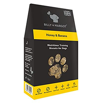 Billy + Margot Honey & Banana Nutritious Training Biscuits 125g, Pack of 4 1