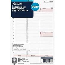 Filofax Kalendereinlage A5 Professional 1 Woche auf 2 Seiten (deutsch)2020