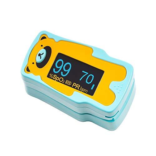 Kernmed OLED Finger Pulsoximeter A310C für Kinder + Alarm + Puls Oxymeter