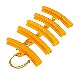 Keenso - 5 protezioni per cerchioni degli pneumatici di moto o auto, protezione per cambiare o riparare gli pneumatici della moto, colore arancione