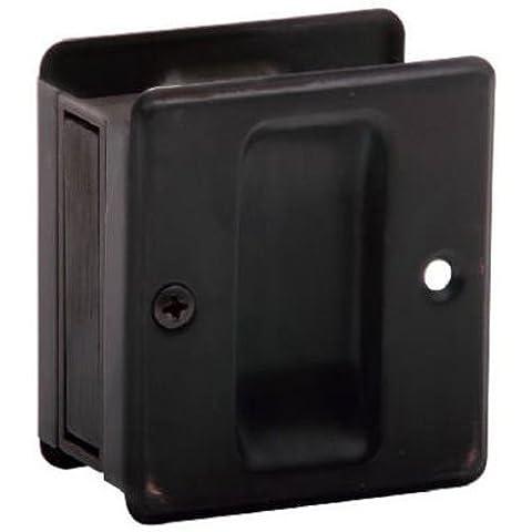 Schlage fonc- oxyd- Satin Bronze Finish coulissante Pocket Door Pull SC990B-716