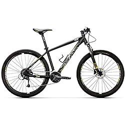 """Conor 8500 27,5"""" Bicicleta Ciclismo Unisex Adulto, Negro/Amarillo, MD"""
