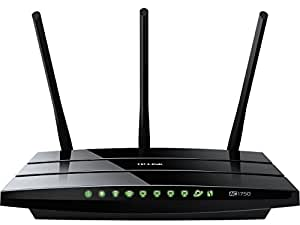 TP-Link Archer C7 AC1750 Gigabit Dualband WLAN Router(für Anschluss an Kabel-/DSL-/GlasfaserModem, 450 Mbit/s(2,4GHz)+1300 Mbit/s(5GHz), 2 USB 2.0 Ports, IPv6, Print/Media/FTP Server)