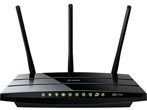 TP-Link Routeur 1750 Mbps Wi-Fi Gigabit Bi-Bande: 450 Mbps en 2.4 GHz, 1350 Mbps en 5 GHz, 5 ports Ethernet Gigabit, 1 port USB 2.0 (Archer C7)