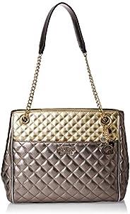 GUESS Women's Satchel Handbag, Gold - MG75