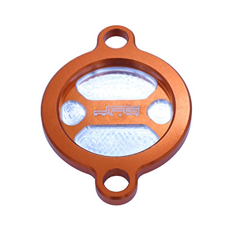 Ktm 450 öl-filter (CNC Billet Orange Öl Filter Cover Cap für KTM sx-f xc-f EXC 450 500 Duke RC 125 200 390 Duke 690 Enduro SMC SM SMR 1190 RC8,)