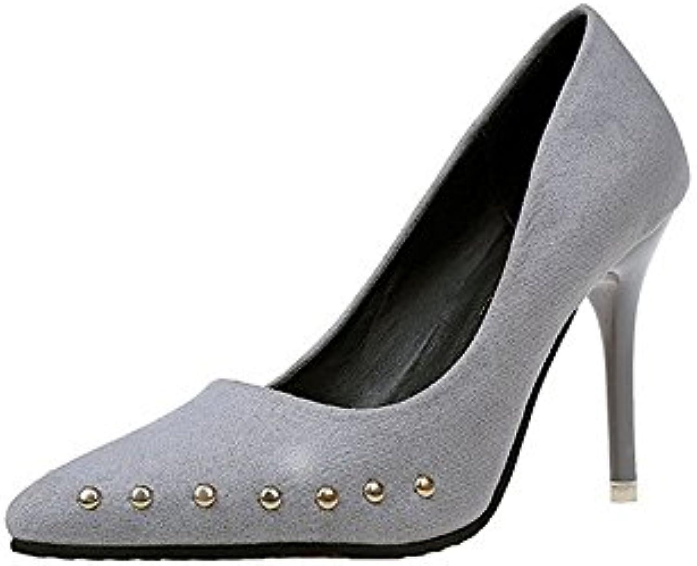 Women Es High Heels Wildleder Sexy Mode Flachen Mund Spitze Stiletto Heels Sandalen Brautjungfer Schuhe Brautö