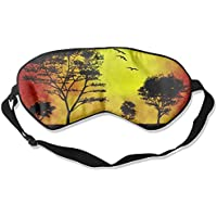 Sunset Trees Illustration Art Sleep Eyes Masks - Comfortable Sleeping Mask Eye Cover For Travelling Night Noon... preisvergleich bei billige-tabletten.eu