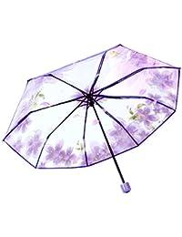 Paraguas plegable transparente - Compacto - Abierto automático - Paraguas de golf para exteriores, ligero