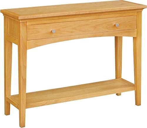 Brompton Manhattan Table Console, 1 tiroir avec étagère, en Chêne Massif
