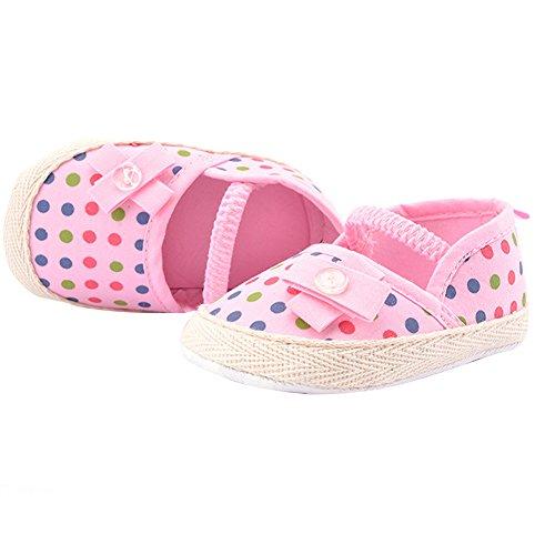 WAYLONGPLUS Baby-Mädchen Prewalker Sommer Baumwolle weiche Sohle Anti-Rutsch Sandalen Pink