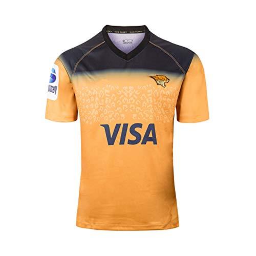 Rugby Anzug -2019 Jaguar nach Hause und Weg Fußball Jersey, Fußballsportkleidung Erwachsene Kinder kurzärmeliges Training Gelegenheits (Color : B, Size : L)