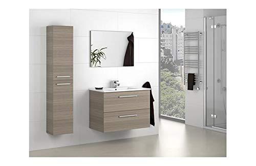 Mueble de Baño 2 Cajones y Espejo Aruba