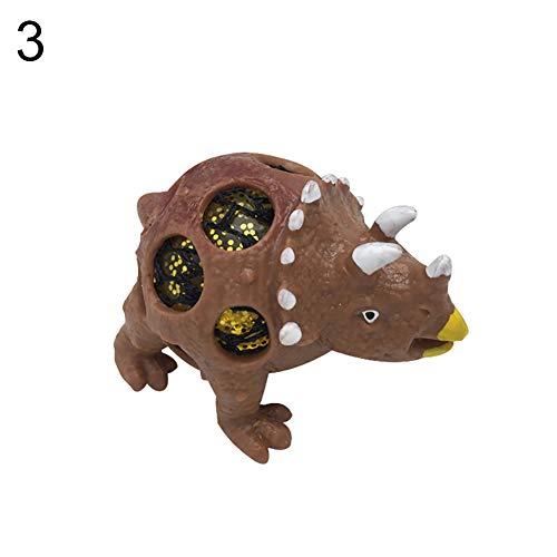 osaurier Modellsimulation Angst Stressabbau Squeeze Finger Spielzeug für Erwachsene und Kinder - Brown ()