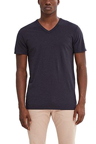 ESPRIT Herren T-Shirt 047ee2k013 Schwarz (Black 001)