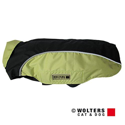 Wolters | Regenjacke Easy Rain in Schwarz/Rot | Rückenlänge 60 cm